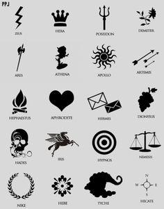 percy jackson drawing of cabin symbols yaaasss so cool! Greek Gods And Goddesses, Greek And Roman Mythology, God Tattoos, Tattoos For Guys, Fandom Tattoos, Drawing Tattoos, Shirt Drawing, Book Drawing, Tattoo Art