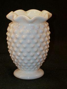 Vintage Fenton Milk Glass Hobnail Bud Vase Unmarked Opaque White. Have