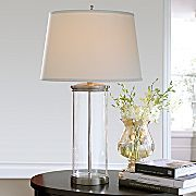 Cindy Crawford Style® Glass Column Table Lamp