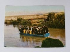Vintage Israel Stamped Photo Postcard Epiphany Day Priests in Boat Jordan River | Collectibles, Postcards, Real Photo | eBay!