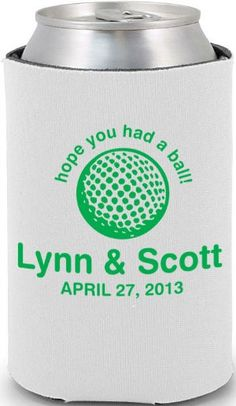 Totally Wedding Koozie - golf theme wedding design