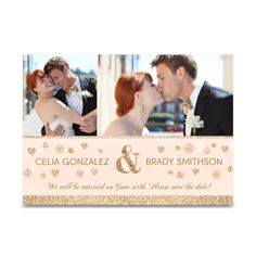 Rose Sparkle Save the Date