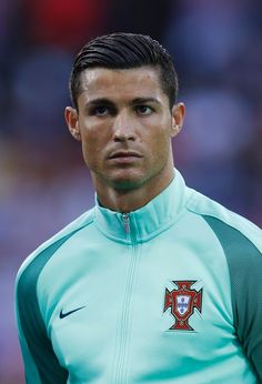 Cristiano Ronaldo before the game between Croatia - Portugal. At the Stade Bollaert-Delelis stadium. On 25 June, 2016.