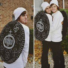 Satisfy Your Cravings With 25 Food Halloween Costumes via Brit + Co.  sc 1 st  Pinterest & Halloween---double stuffed oreos made with hula hoops | Halloween ...