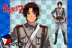 Phili-kun (The male version of my Philippines character) in a parody of the new animation style of Hetalia (sort of, I want to try the new anime style f. Character Modeling, My Character, Hetalia Philippines, Filipino Art, Awkward Girl, Hetaoni, Ouran Highschool, Persona 4, Cartoon Movies