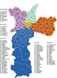 mapa sao paulo regioes