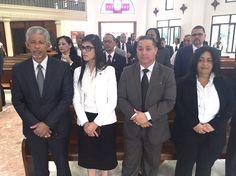 Gobernador SD acompaña a magistrada Olga Diná misa por el Día del Poder Judicial