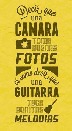 .Decir que una guitarra.... #infografia #citas