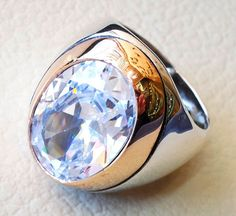 diamond synthetic stone high quality white by AbuMariamJewels
