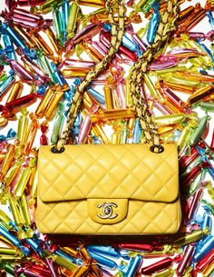 Chanel Classic Antibes yellow bag