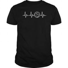 I Love Volleyball Heartbeat Shirts & Tees