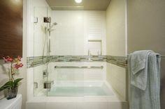 Bathroom Ideas: Glass Mosaic Tile For Tile Accent With Bathroom ...