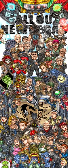Fallout New Vegas what a fab illustration (lol Veronica) Fallout New Vegas, Fallout 3, Fallout 4 Poster, Fallout Fan Art, Fallout Quotes, Fallout Tips, Fallout Cosplay, Nintendo 3ds, Wii U