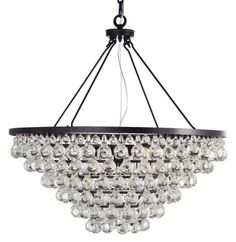 "5 LIGHT CRYSTAL PEARS PENDANT :: DINING & BEDROOM CHANDELIERS <BR>(20""-34"" DIA.) :: Ceiling lights Toronto, Bath and vanity lighting, Chandelier lighting, Outdoor lighting and kitchen lights :: Union"