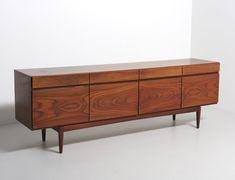 For sale: Teak FA66 sideboard by Ib Kofod Larsen Teak Sideboard, Credenza, Bedroom Dresser Sets, Vintage Designs, 1960s, Cabinet, Storage, House, Furniture