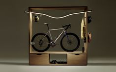 "BIKE SHELF Ride Home Collection, the ""illuminated"" book-shelf that turns your bike in a work of art"