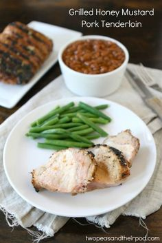 Grilled Honey Mustard Pork Tenderloin Recipe on twopeasandtheirpod.com Great recipe for summer! #grilling
