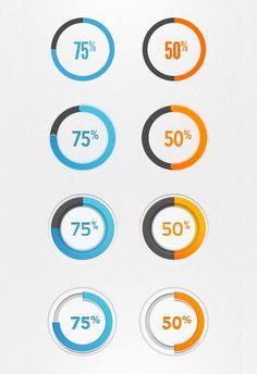 Progress Circles PSD - UI Elements