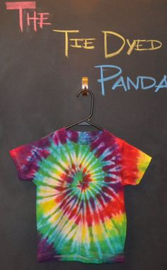 OMG! THERE IS ONLY ONE LEFT GET IT WHILE THEY ARE STILL HERE!! Kids Tie Dye Small TShirt Rainbow Swirl by TheTieDyedPanda on Etsy, $14.00