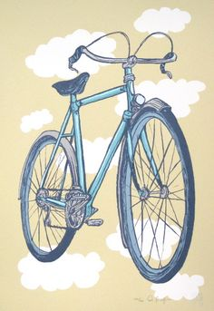Rene Herse by Diana Sudyka Rock Posters, Concert Posters, Event Posters, The Decemberists, Master Of Fine Arts, Chicago Artists, Bicycle Art, Cycling Art, Poster Prints