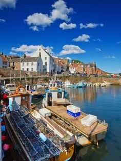The harbour at Crail, Scotland
