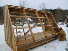 Building a Solar Wood Drying Kiln Solar wood drying kiln, front side Firewood Logs, Firewood Storage, Lumber Storage, Bungalows, Cabana, Woodworking Plans, Woodworking Projects, Solar Kiln, Lumber Mill