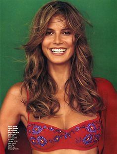 BartCop's Supermodel Hotties - Heidi Klum - Page 4 - Heidi Klum, Beautiful People, Beautiful Women, Luscious Hair, 90s Hairstyles, Portraits, Cute Faces, Celebs, Celebrities