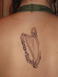 irish harp tattoo - Google Search
