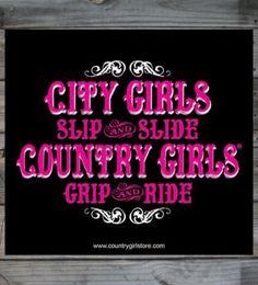 "Country Girls ™ Grip & Ride 5"" x 5"" Sticker"