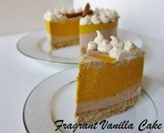 Raw Chai Spiced Pumpkin Cheesecake | Fragrant Vanilla Cake