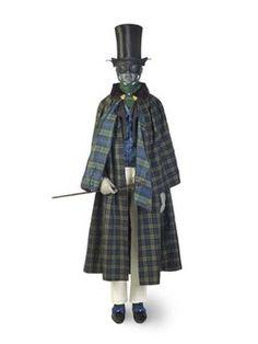 Cloak Production Date: 1828-1830 (worsted wool hard tartan)