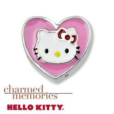 From Charmed Memories®, this Hello Kitty® pink heart charm is crafted in sterling silver with enamel finish.