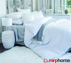 Need to buy large pillow covers and queen duvet cover next time I am in SA. Large Pillow Covers, Large Pillows, Duvet Covers, Mr Price Home, Natural Bedroom, Competition Time, Blue Bedroom, Queen Duvet, Home Deco