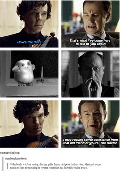 Mycroft, if you're that desperate to lose weight you should just put down the cake every now and again and attend a spin class or something.