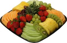Sweet Fruit Treat-Strawberries,Pineapple,Kiwi,Honeydew Melon,Red & Green Grapes,& Cantaloupe.