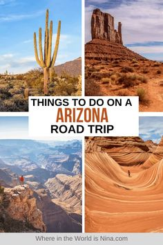 Arizona is a state of red rock deserts, many-armed cactuses, incredible natural wonders like the Grand Canyon and Monument Valley, and historic towns. There are so many things to see and do on an Arizona Road Trip - read my itinerary to find out what you should do and where you should go on an Arizona Road Trip. | Where in the World is Nina? #arizona #arizonaroadtrip #usaroadtrip