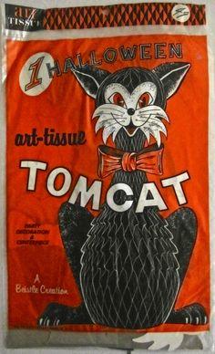 "My vintage ""1 Halloween Tom Cat"" by Beistle."