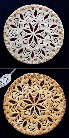 No Bake Pies, No Bake Cake, Creative Pie Crust, Beautiful Pie Crusts, Pie Crust Designs, Pie Decoration, Pies Art, Pastry Design, Holiday Pies