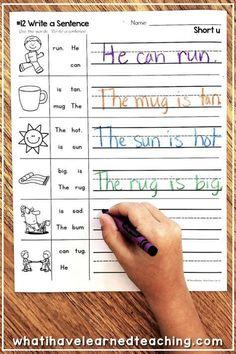 Phonics Worksheets, School Worksheets, Phonics Activities, Writing Practice Worksheets, Teaching Phonics, Read Write Inc Phonics, Phonics Centers, Word Work Activities, Jolly Phonics