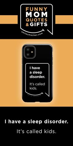 Mom's sleep disorder ~ Smack this quote onto Phone Cases & more. We're here to send a smile your way when #momlife gets crazy! Find your #smilestyle at smilesmacker.com Best Friend Gifts, Gifts For Friends, Moms Sleep, Motherhood Funny, Iphone Cases Quotes, Funny Mom Quotes, Birthday Gift For Wife, Gift Quotes, Parenting Quotes