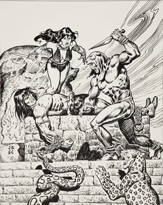 Conan and Belit by John Buscema