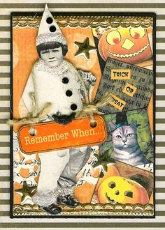 ATC - Halloween Pierrot I, Remember When...