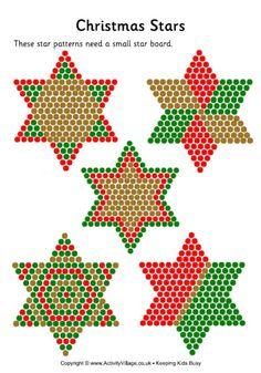 Christmas stars fuse bead pattern