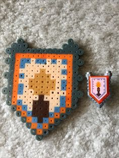 Lego Nexo Knights pixel - Flash Cannon Shield, melty beads