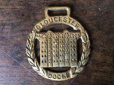 Vintage English Gloucester Docks horse brass harness martingale tack decoration lucky charm circa 1950-60's Purchase in store here http://www.europeanvintageemporium.com/product/vintage-english-gloucester-docks-horse-brass-harness-martingale-tack-decoration-lucky-charm-circa-1950-60s/