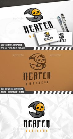 Death Logo Design Template Vector #logotype Download it here: http://graphicriver.net/item/death-logo-template/15588724?s_rank=1509?ref=nexion