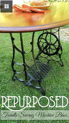 Treadle Sewing Machine Upcycle