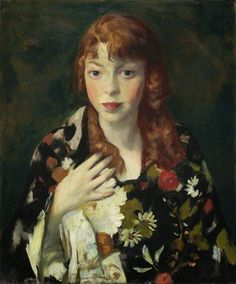 """Edna Smith in a Japanese Wrap,"" Robert Henri, ca. oil on canvas, 20 x Indianapolis Museum of Art. American Realism, American Artists, Manet, William Glackens, Ashcan School, Robert Henri, L'art Du Portrait, Arte Fashion, Indianapolis Museum"