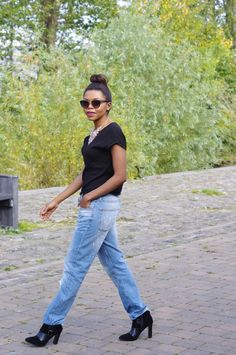 The Chic Medic: THE EDGY SIDE OF CHIC  slouchy jeans, boyfriend jeans, zara, denim, destroyed, mango top, booties, mock croc booties, rock chic, edgy look, Boyfriend Jeans, Mom Jeans, Mango Tops, Rock Chic, Edgy Look, The Chic, Zara, Medical, Booty