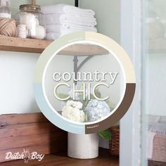 Rustic touches and soft colors define @letteredcottage's Country Chic style. Define your style for the chance to win an in-home color consultation and $500 here: http://www.dutchboy.com/sweepstakes/ [Promotional Pin]